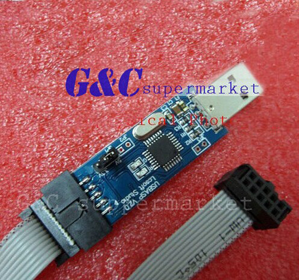 Usb Isp Programmer For Atmel Avr Atmega Attiny 51 Development Board Usbasp With Case Reviews 1pcs
