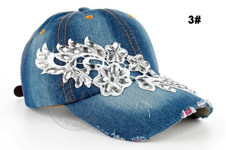Высокое качество оптом и в розницу JoyMay шляпа Кепки Мода Досуг Стразы х/б джинсы колпачки в цветочном стиле летние Бейсбол Кепки B232