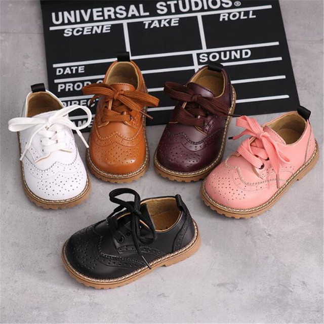 New Children Shoes Genuine Leather Fashion Baby Toddler Student Dress Shoes Kids Boys Girls Leather Shoes Spring/Autumn 02C