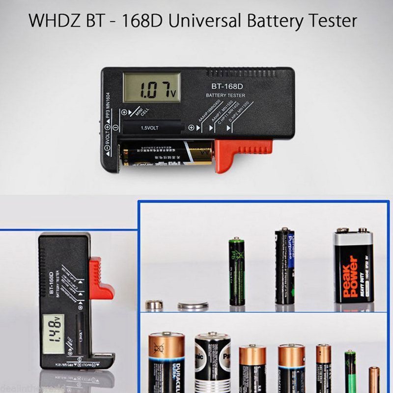 Universal BT168D Electronic AA AAA Battery Charging Indicator Smart LCD Digital Tester Battery Measure for 9V 1.5V Battery Meter