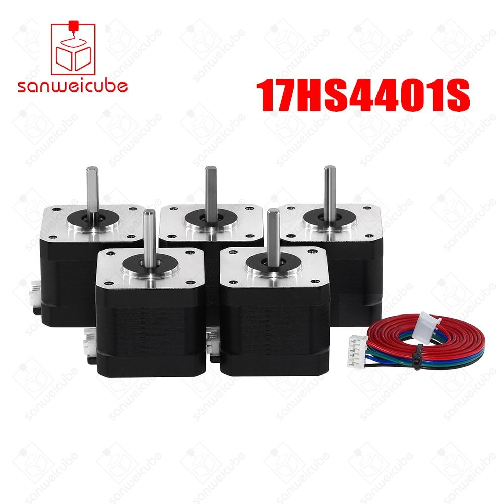 цена на 5pcs/lot 17HS4401S 4-lead Nema17 Stepper Motor 42 motor Nema 17 motor 42BYGH 1.5A (17HS4401S) motor for CNC XYZ machine