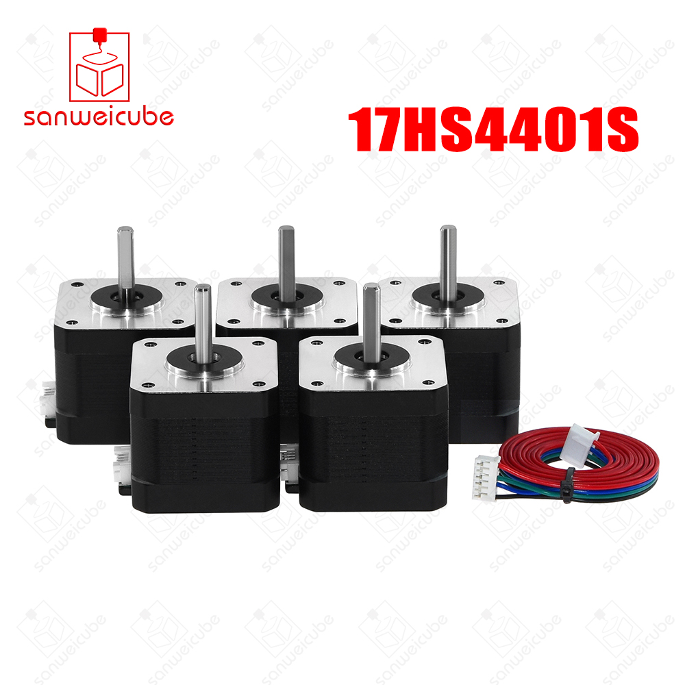 5pcs/lot 17HS4401S 4-lead Nema17 Stepper Motor 42 motor Nema 17 motor 42BYGH 1.5A (17HS4401S) motor for CNC XYZ machine цена