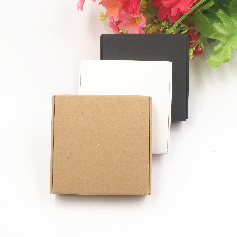 Kraft Paper Small Airplane Gift Boxes Little Square Shape Candy Packaging Box Wedding Favor Supplies Wrapping image