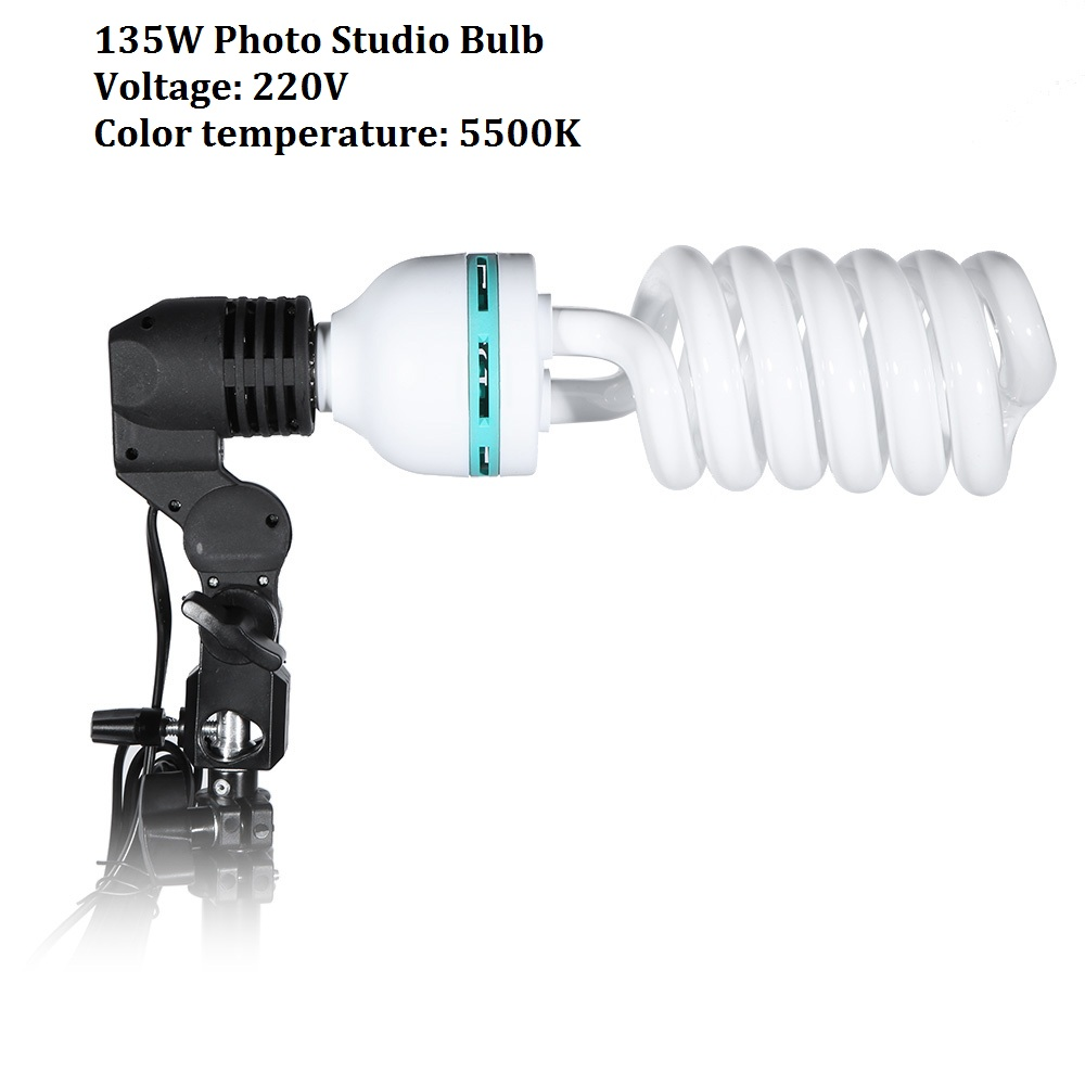 Lightdow 1PCS E27 220V 5500K 135W Photo Studio Bulb Video Digital Camera Photography Daylight Light Lamp