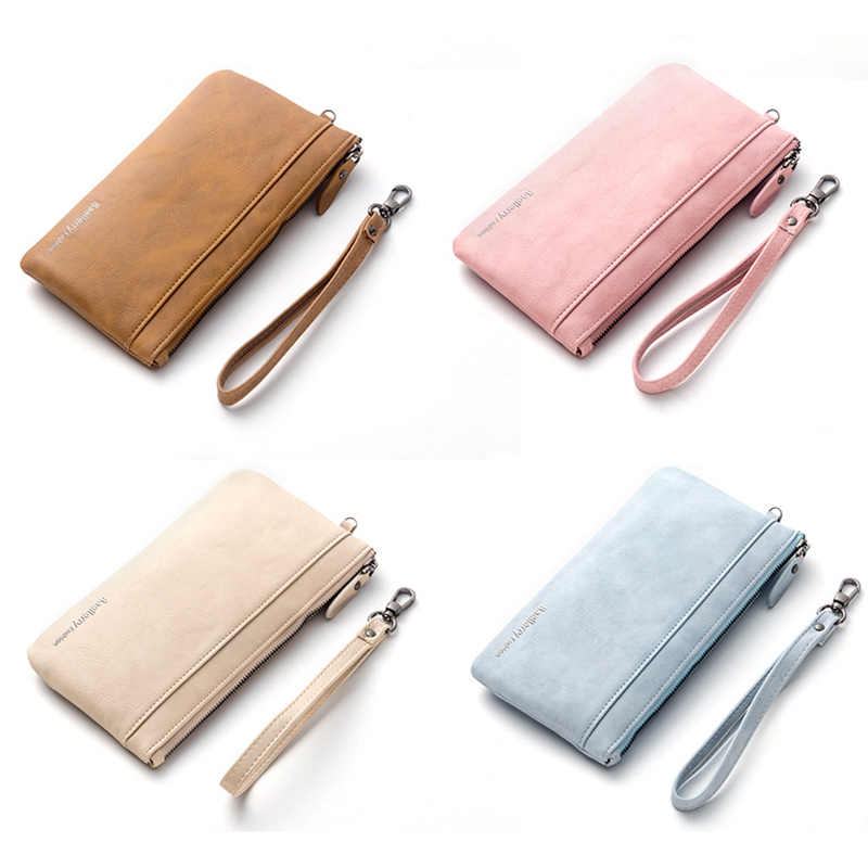 2018 Frans BA Ms. fashion Wallet Zipper Phone bag for iPhone X 8 7 Plus Samsung S9 Huawei simple Purse the new lady long wallet