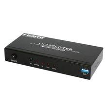 Высокое разрешение 4 K x 2 HDMI сплиттер 1x2 1x4 с аудио экстрактором, поддержка EDID 3d и HDCP