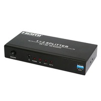 high resolution 4Kx2K HDMI Splitter 1x2 1x4 with Audio Extractor support 4kx2k EDID 3d and