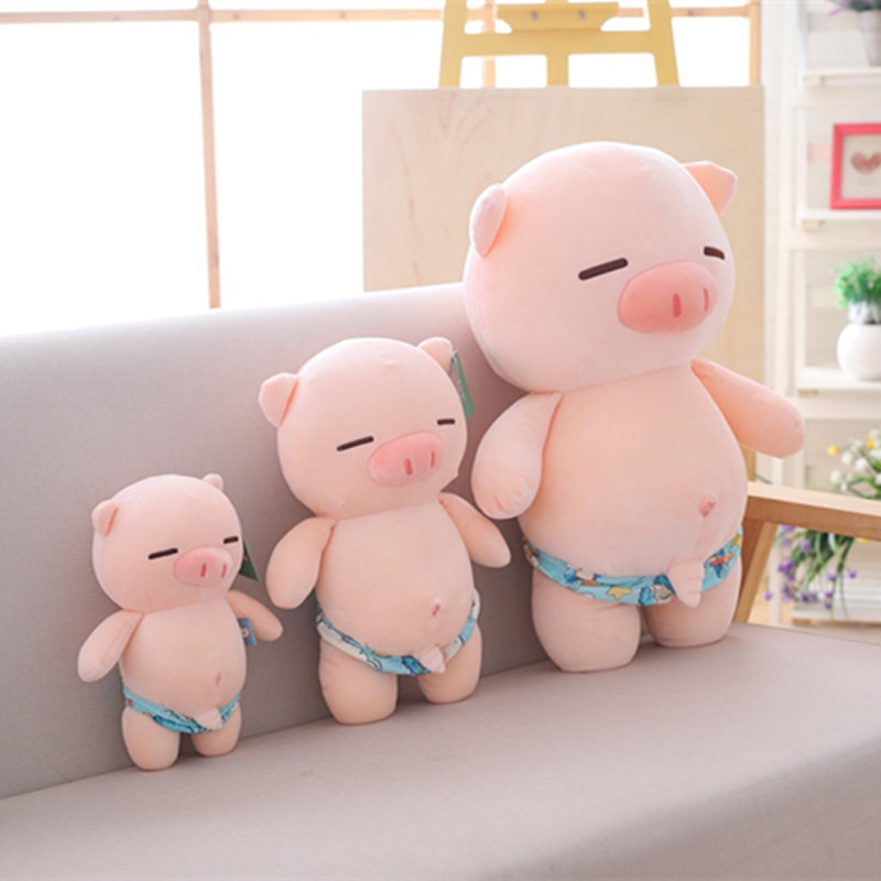 25cm/35cm/55cm Sexy Pig Plush Toys Stuffed Toys Cute Animals Plush Sandy Beach Pig Pillow Doll Toys For Children Birthday Gifts