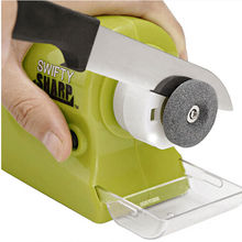 New Electric Knife Sharpener Household Mini Portable Quick Professional Knife Sharpener Sharpening Tools Kitchen Gadget Tools kme knife sharpener professional sharpening knife portable 360 degree rotation fixed angle apex edge knife sharpener with stones