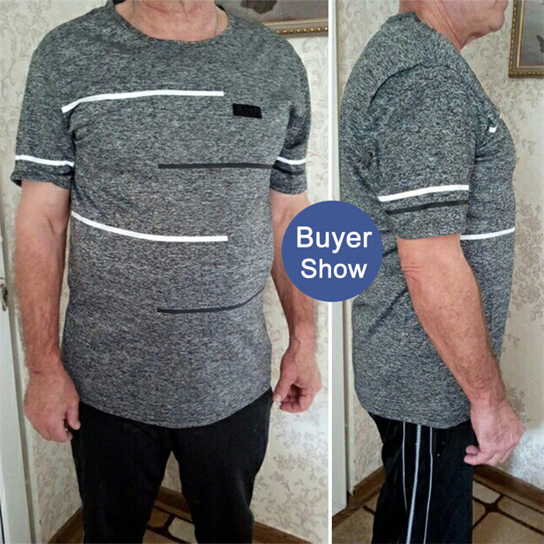 9XL Summer T shirts Men Clothing Polyester Plus Size 5XL 6XL 7XL 8XL Male Tshirts Breathable Short Sleeve Strip Top Tees O-Neck 08