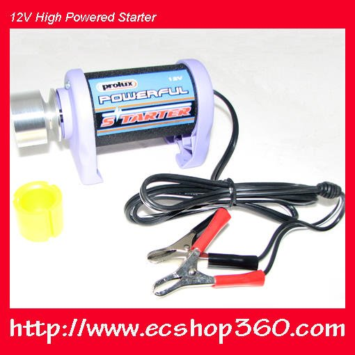 TaiWan Prolux 12V High Powered Starter for 30 60A rc Balsa gas airplane helicopter boat 1270