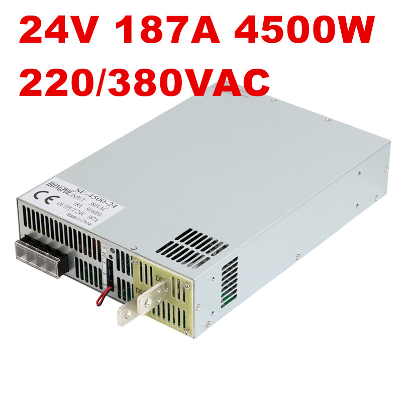 1PCS 4500W 24V power supply 24V 187A AC-DC High-Power PSU 0-5V analog signal control SE-4500-24 0-24V 1PCS 4500W 24V power supply 24V 187A AC-DC High-Power PSU 0-5V analog signal control SE-4500-24 0-24V