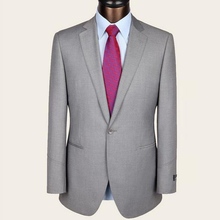 2016 Custom Made Handsome Grey Men Slim Fits Suits Tuxedos Grooms Suits Wedding Suits Business Suits Blazers+Pants+Vest