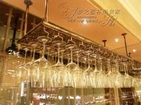 Top rated bar iron wine rack wine glass rack wall hanging cup holder bar wine rack 60cm(L) 35cm(W) home decoration bar decor