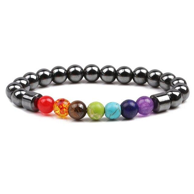 Bracelet 7 Chakras Obsidienne
