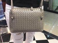 Chance Love Style European/American fashion pure sheepskin hand knitted bag Top quality single shoulder bag women handbags