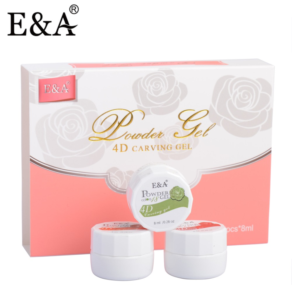 EA 12 pcs Set Patung Gel Styling Dipimpin UV Gel 3D Pemodelan Kuku Sculping Gel Diukir Gel Cat Kuku