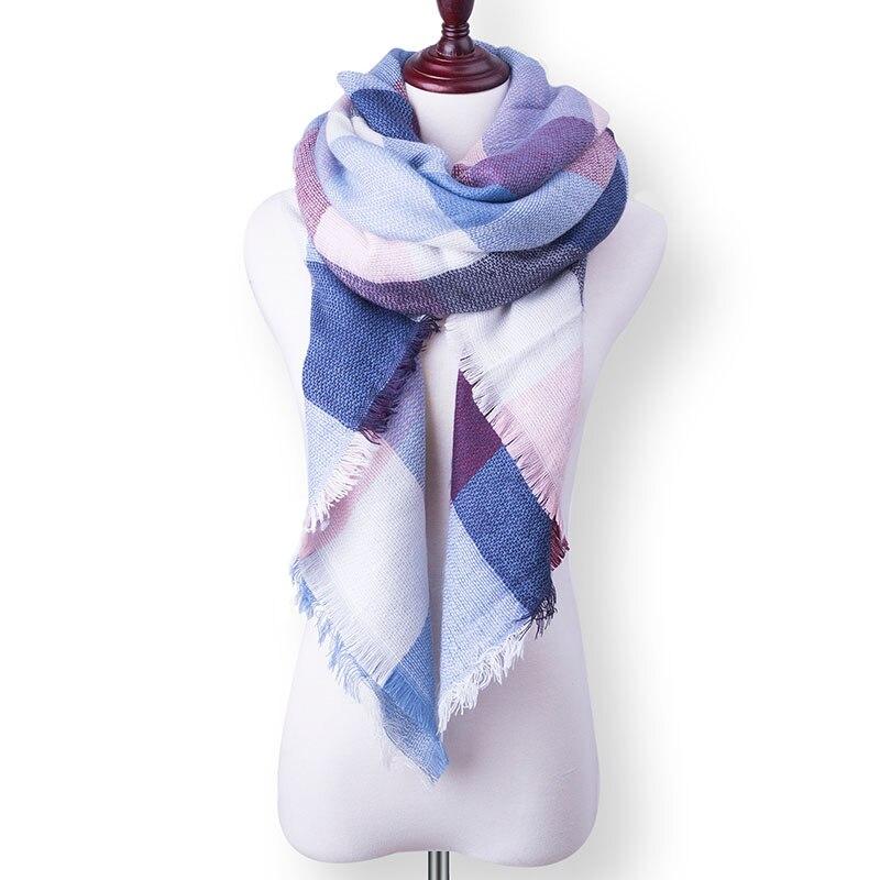 Бренд Evrfelan, шарфы, Прямая поставка, женский зимний шарф, высокое качество, плед, одеяло, шарф и шаль, большой размер, плотные шарфы, шали - Цвет: W40