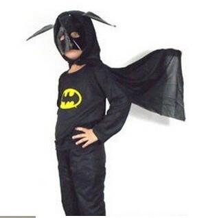 бесплатная доставка, косплей, бэтмен детский одежда, хэллоуин костюмы мультфильм, оптовая продажа 6 шт./лот