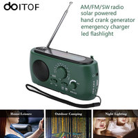 DOITOP Protable FM AM SW Radio Radio Solar Hand Crank Powered Emergency Charger Phone Charger With