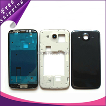 i9152 housing Battery cover for Samsung i9152 Galaxy Mega 5.8 Front middle frame Back Cover Battery Door tracking