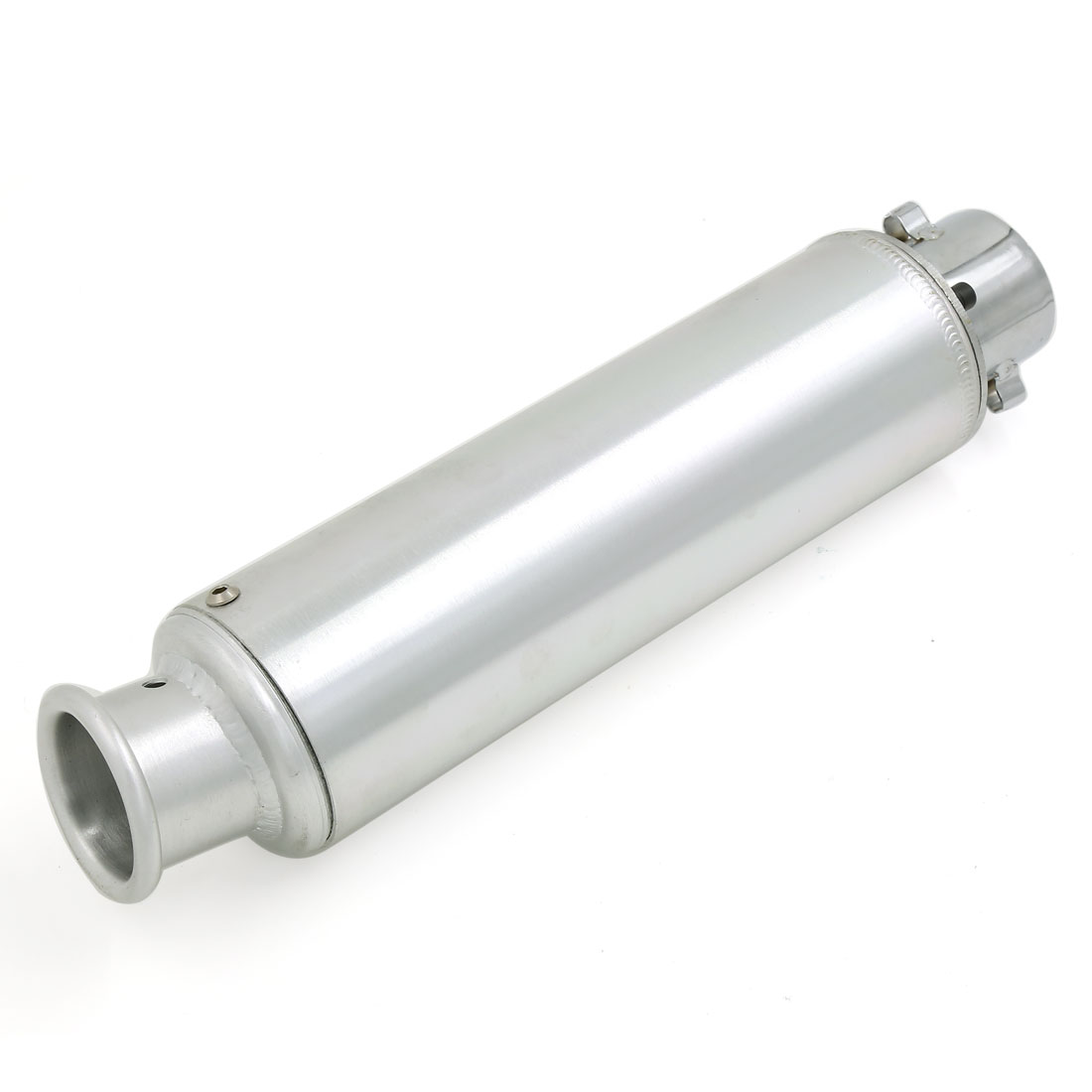 X Autohaux 360Mm Long 50Mm Inlet Round Tip Motorcycle Exhaust Muffler Tail Pipe Sliver Tone