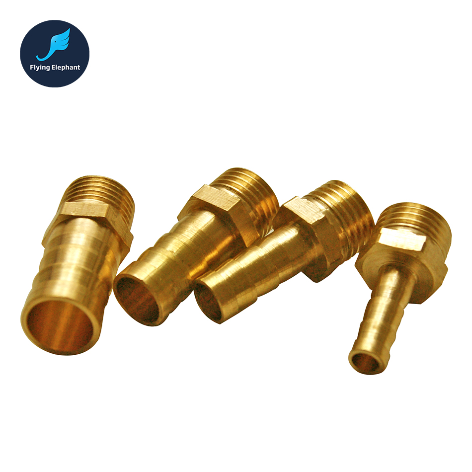 Piece brass hose nippler pipe joint fittings od mm