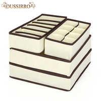 4 sztuk bielizna pudełko do przechowywania biustonoszy ubrania organizator krawaty pudełka skarpetki przegroda szuflady Lidded szafa biustonosz kalesony pojemnik do przechowywania