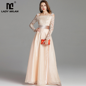 2019 Spring Womens Runway Dresses Spaghetti Straps Embroidery Party Prom Sexy Split Fashion Long Designer
