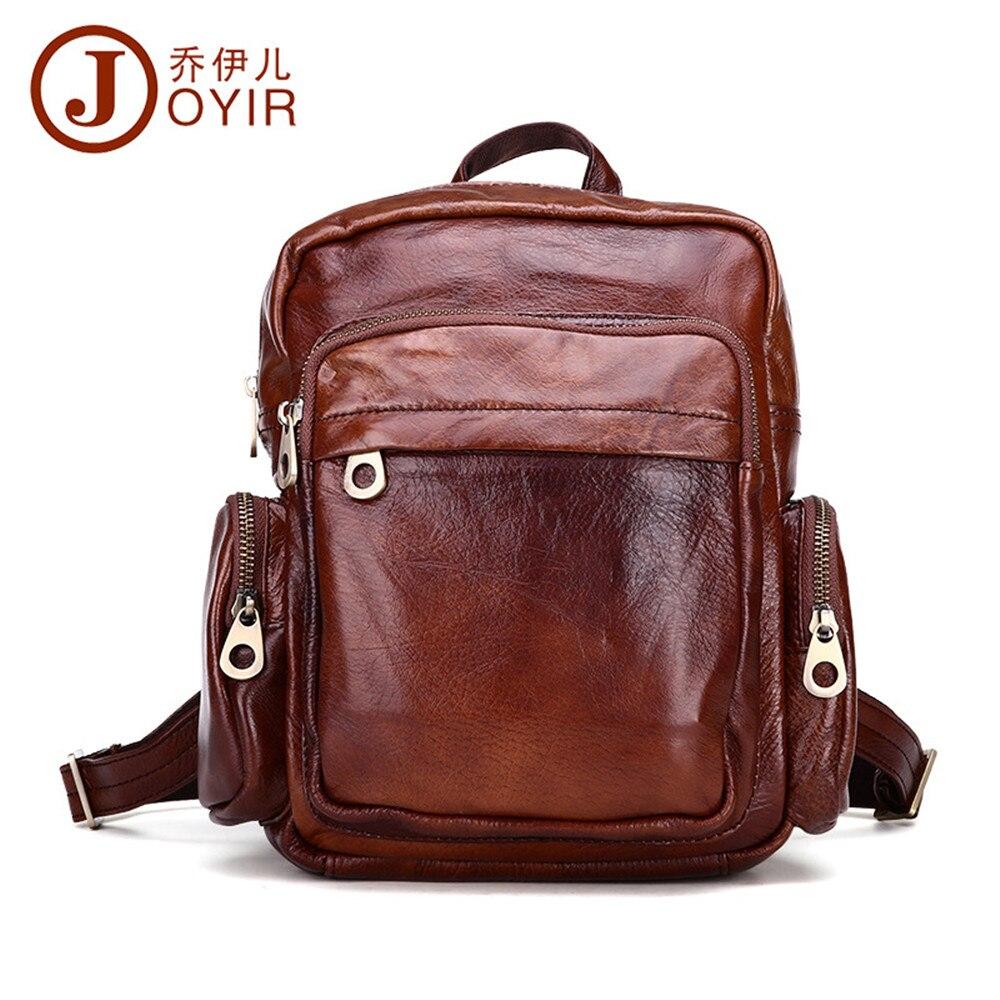 ФОТО JOYIR 2017 designer bags new fashion Genuine leather backpack Cowhide leisure backpack High quality ladies backpack 8060