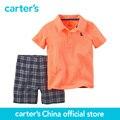 Carter 2 pcs crianças bebê polo curto set 229g123, vendido por carter oficial da China loja