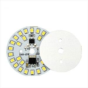 Светодиодный SMD-чип Smart IC, 3 Вт, 5 Вт, 7 Вт, 9 Вт, 12 Вт, 15 Вт, SMD2835 светодиодный прожектор с бусинами AC220 в, холодный белый, теплый белый, светодиодный ...