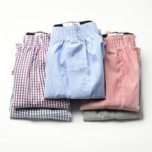 5 Stks/partij 6XL Plus Size Mannelijke Ondergoed Plaid Underpants Man Geweven Boxer Mannen Katoen Heren Boxers Ademende Familie Slipje Shorts
