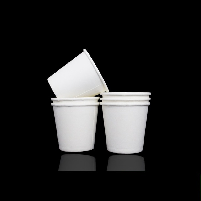 US $55 7 |600 X 100ML White Small Paper Cups 4oz Disposable Standard  Yoghourt Coffee Drinking Cup Wholesale-in Disposable Party Tableware from  Home &