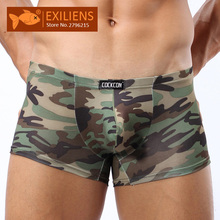 Mens Underwear Boxers Camouflage-Size EXILIENS New-Brand Hot Masculina Cueca 112601 4-Style
