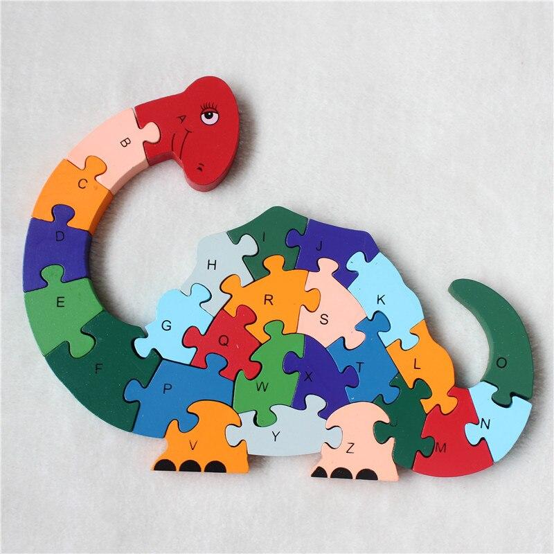 Новый развивающие игрушки Дети динозавров деревянные игрушки деревянные дети 3d Puzzle Детские пазлы Brinquedo