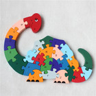 New Educational Toys Kids Dinosaur Wooden Toys Wood Kids 3d Puzzle Kids Jigsaw Puzzles Brinquedo