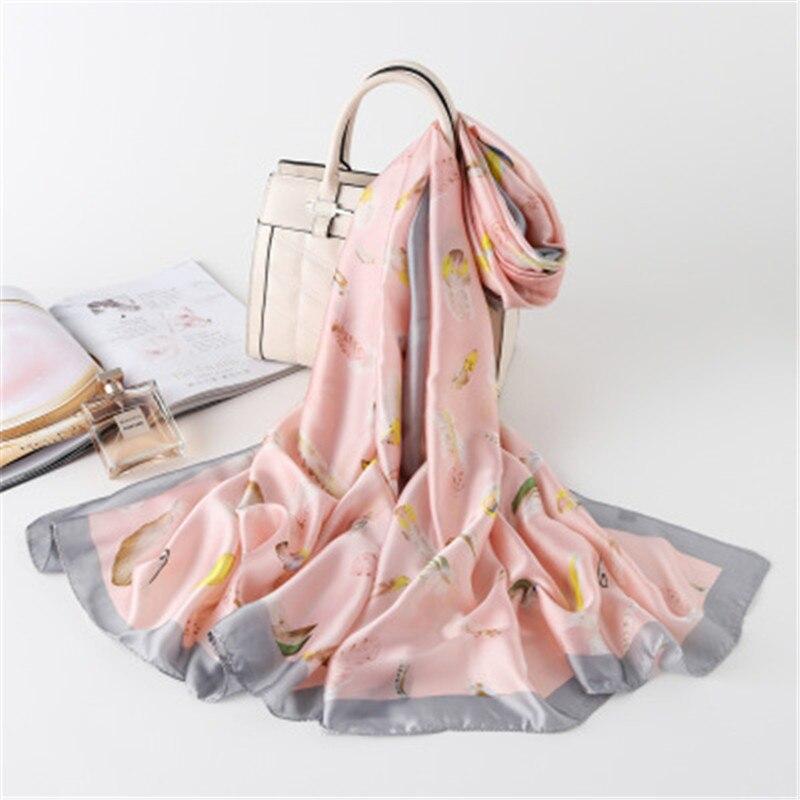 Women Chiffon   Scarf   Soft Thin Chiffon Silk   Scarf   Flower Printed Silk   Scarves     Wrap   Shawl   Scarves   Female Size