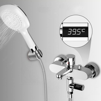 New LED Display Home Water Shower Thermometer Flow Water Temperture Monitor Led Display Shower Thermometer Digital For Baby Care