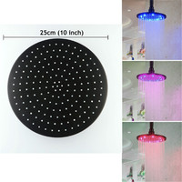 10 inch stainless steel Round LED Rain Shower Head, Oil Rubbed Bronze LD8030 D6