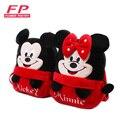 Nuevo 2015 mickey y minnie mochila niños del bolso de escuela del cabrito para Chica Chico Estudiante Schoolbag Bebé Lindo Peluche de Dibujos Animados Mini Bolsas