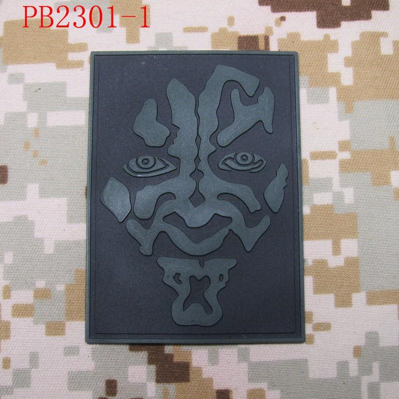 darth maul Logo Tactical Morale 3D PVC patch White Red Grey - Արվեստ, արհեստ և կարի - Լուսանկար 2