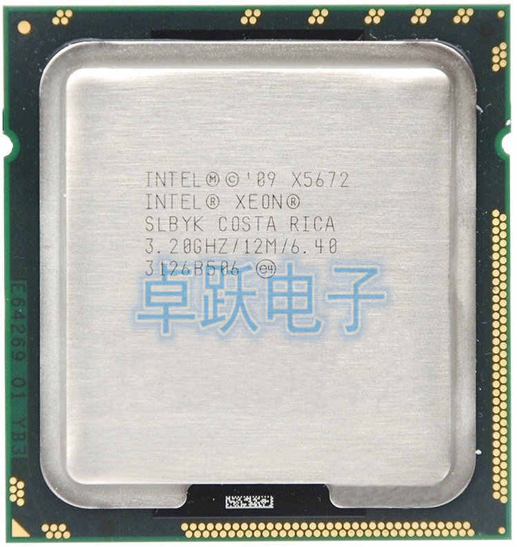 Intel Xeon X5672 x5672 CPU processor/3.2 GHz/LGA1366/12 MB/L3 95 W Cache Quad Core server CPU Gratis Pengiriman