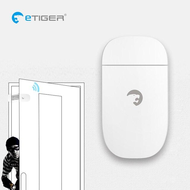 eTIGER ES-D3C Wireless Door/Window Contact Alarm powered with AAA battery Window Door Sensor Detector For eTiger Alarm