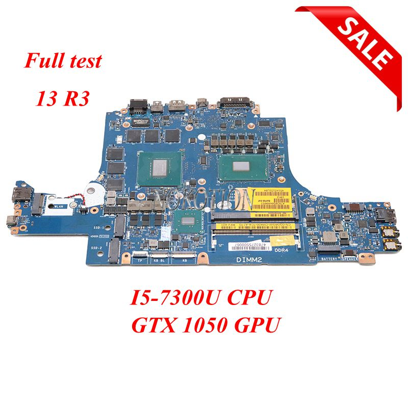 NOKOTION For Dell Alienware 13 R3 13.3 inch Laptop Motherboard CN-02R5MC 02R5MC 2R5M BAP00 LA-D581P I5-7300U CPU DDR4 GTX 1050 image