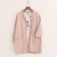 New Women Cardigans Fashion Autumn Winter Knitted Jacket Female Elegant Long Cardigan Casual Loose Pockets Sweaters