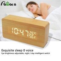 Wake-Up будильник Календари время часы Temp Влажность LED Дисплей акустической Управление зондирования будильник зарядка через USB Батарея