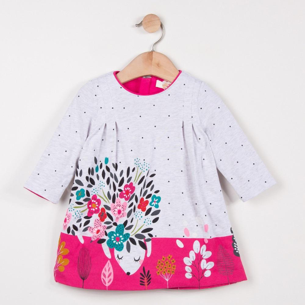Filles nouvelles robes printemps et automne manches longues robe mignon sourisFilles nouvelles robes printemps et automne manches longues robe mignon souris