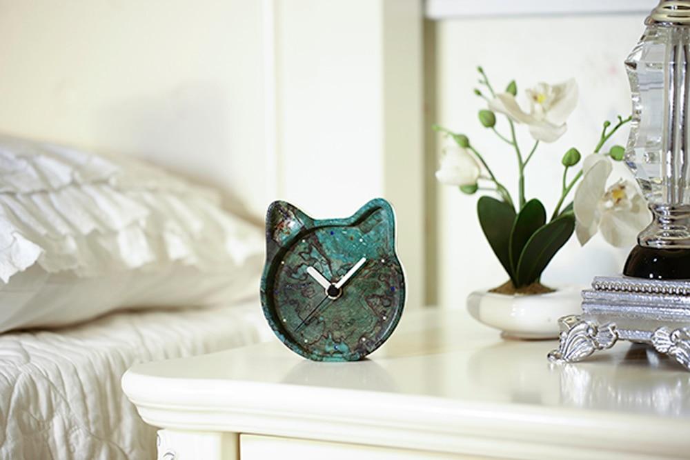 Le bois teinté naturel de FREELOVE stabilise l'horloge de bureau muet, Protection de l'environnement, chaque Unique