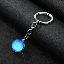 1pcs Toys Metal Noctilucan Saturn Circular Sphere Card Coin Mermaid Shiny Shells Keychain Toys Keyring Key Gift Toys(China)